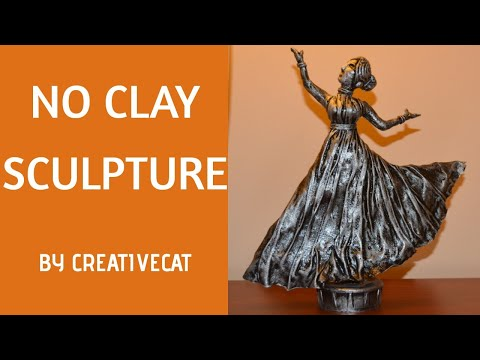 Woman Sculpture without clay/Best out of waste/art and craft/Dancing women