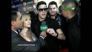 El grupo Treo & San Luis y  Yohana Vargas - Premios Pepsi Music