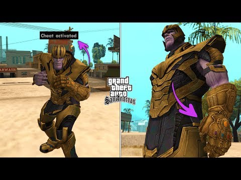 Secret Armored Thanos Cheat Code In GTA San Andreas [ALL ABILITIES]