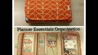 Orla Kiely Cosmetic Bag as Planner Essentials Bag!