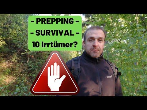 10 Irrtümer bei Prepping Survival? ????