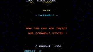 Scramble 1981 Konami Mame Retro Arcade Games