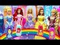 Barbie Magic Transform Disney Princess Dress Up Costume Nesting Dolls Change Ariel Belle
