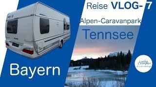 Wintercamping Wohnwagen | Alpen-Caravanpark Tennsee | Bayern | Reise VLOG-7 |  Lucky Camper