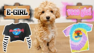PUPPY CHOOSES MY OUTFITS FOR AN ENTIRE WEEK!