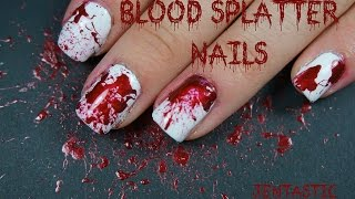 Blood Splatter Nail Art - Dexter Nail Art