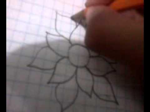 Como Dibujar Una Flor Facil Youtube
