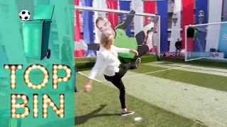 Top Bin | Man vs Football; Adam Richman, Steph Houghton, Lucy Bronze and Ray Parlour