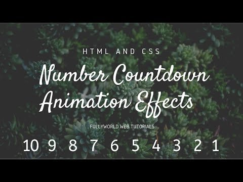 CSS Number Countdown Animation Effects | HTML And CSS Tutorials thumbnail
