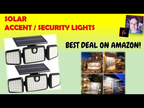 Solar Outdoor Accent and Security Lights by Dimunt
