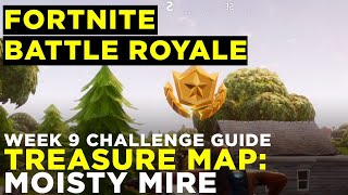 Follow the treasure map found in Moisty Mire - Fortnite Battle Royale Challenge Guide