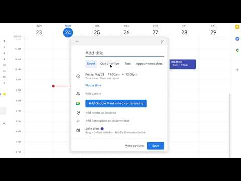 How to: Create an Out of Office in Google Calendar
