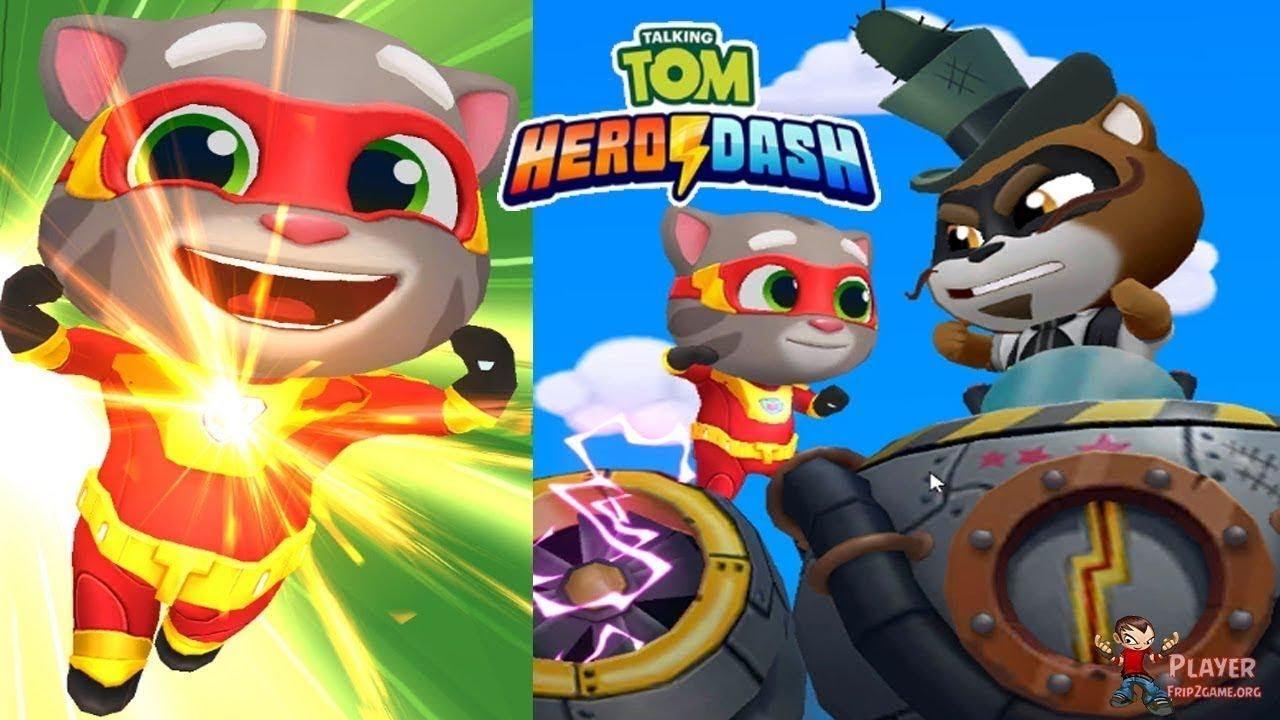 Trò chơi Talking Tom Hero Dash – culytv chơi game siêu nhân mèo Tom phiêu lưu chạy lụm vàng