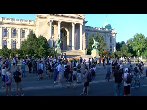 LIVE: Anti-govt. protests continue in Serbia amid coronavirus curfew backlash