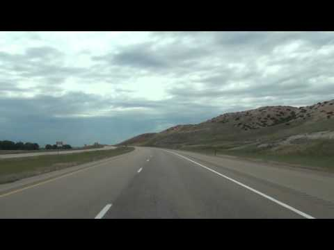 Interstate 90 in Wyoming near Montana