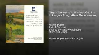 Organ Concerto in E minor Op. 31: II. Largo – Allegretto – Meno mosso