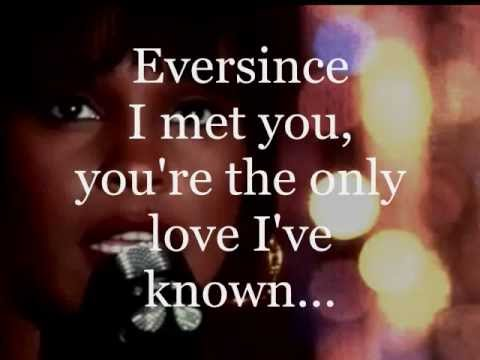 WHITNEY HOUSTON - ALL AT ONCE (lyrics)
