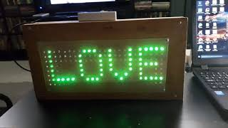 Led scrolling (8 x 24) | electronic project
