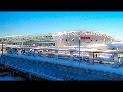 A Walk Around Terminal 8 At JFK International Airport, New York City
