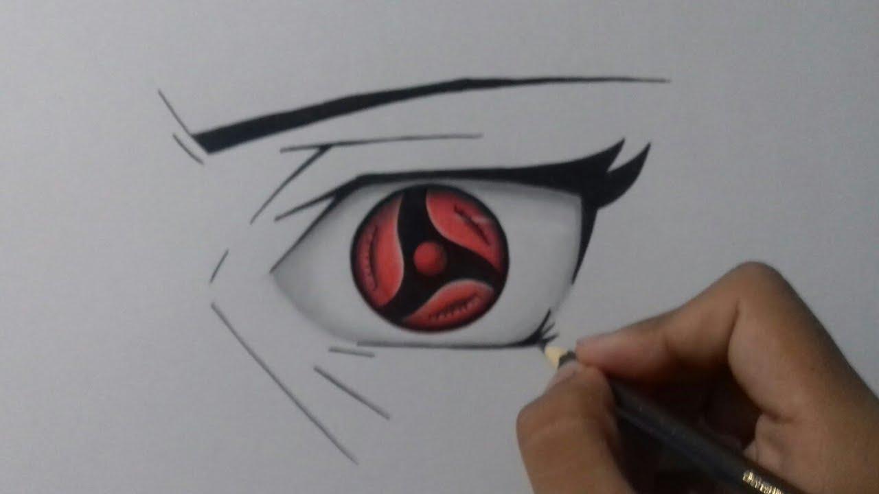 Passo A Passo Como Colorir O Olho Mangekyou Sharingan Youtube