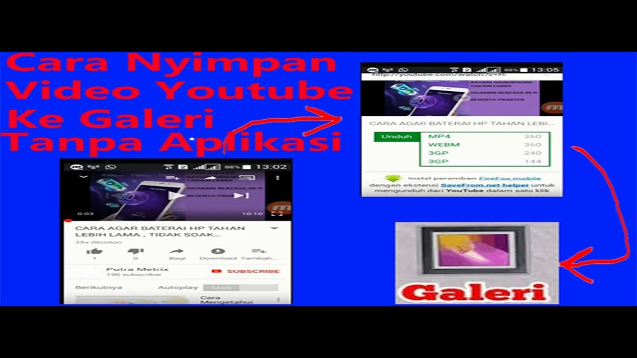 download youtube tanpa software android