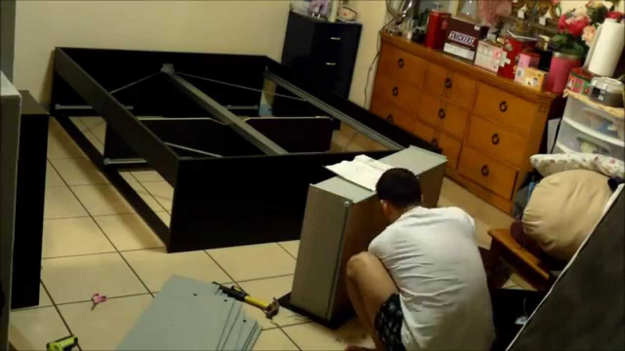 IKEA Bed Assembly - 16x Speed Time-Lapse - YouTube