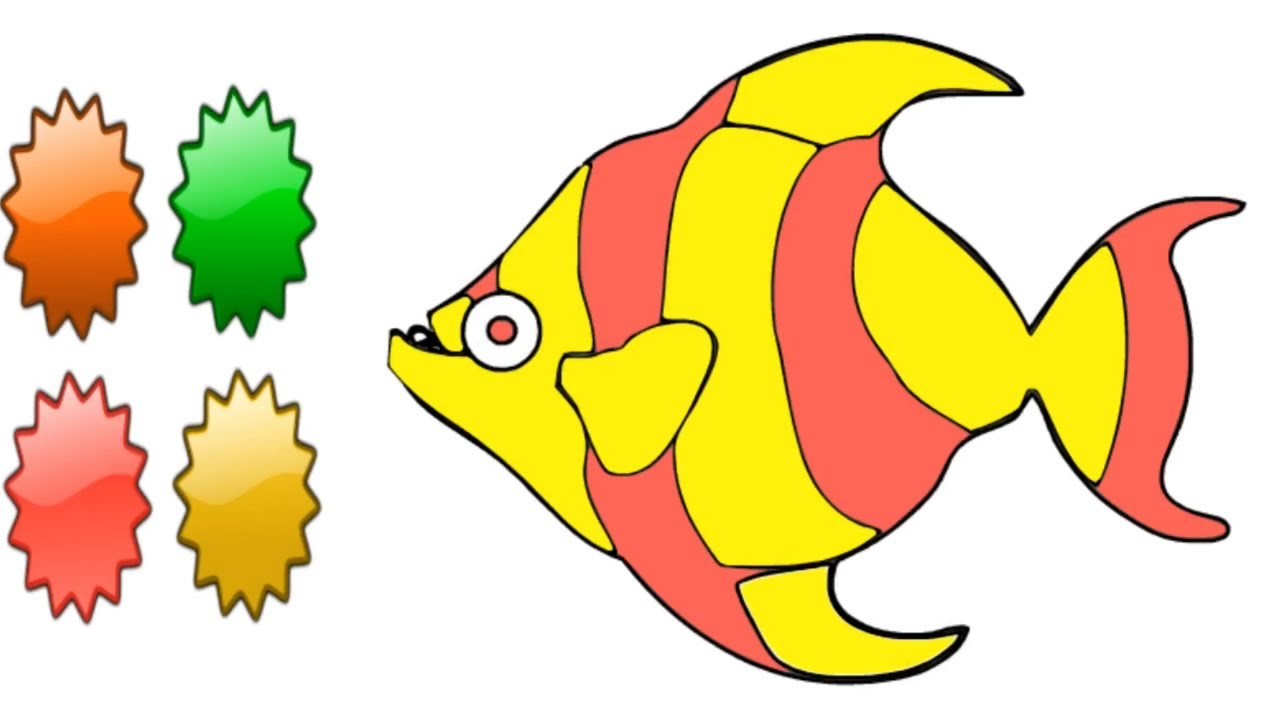 Amazing Angel Fish Coloring Page Collection