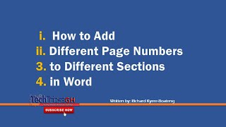 How to Add Different Page Numbers to Different Sections in Word