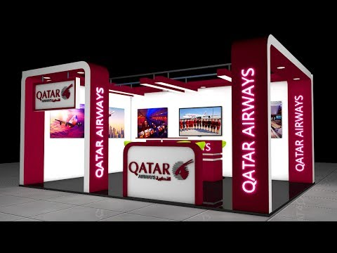 Exhibition Stall 3D Modeling in Cinema 4D