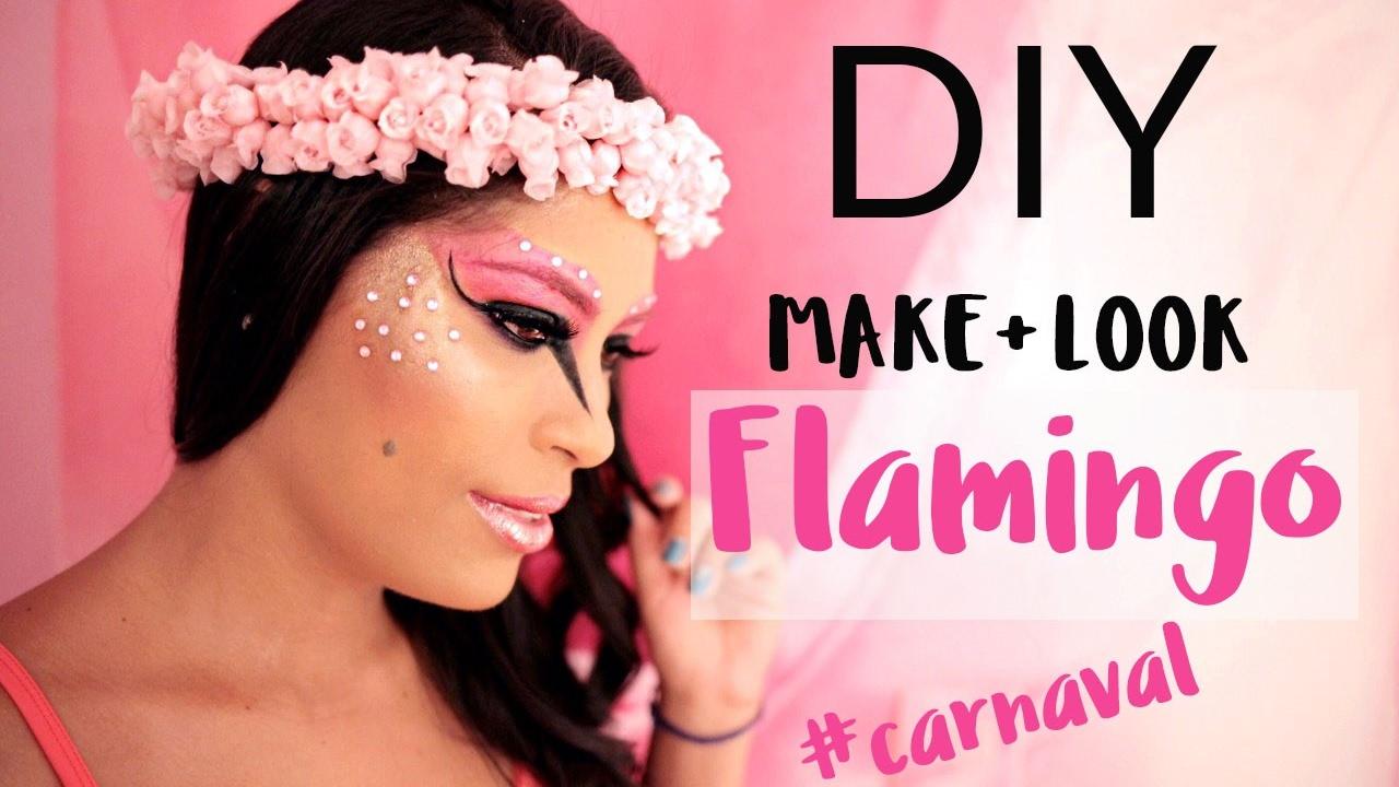 Diy Fantasia De Flamingo Carnaval Look E Maquiagem Youtube
