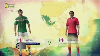 2014 Fifa World Cup Brazil CONCACAF National Teams Ratings & Kits