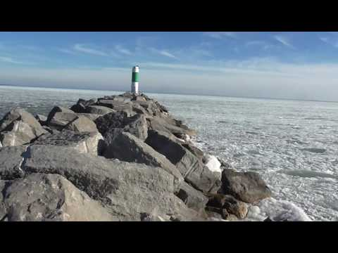 Ice Waves On Lake Huron Plus Our Blizzard!! Ice Waves And Water Sounds!!