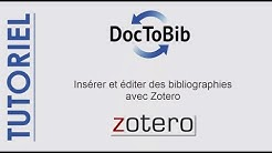 Insérer et éditer des bibliographies avec Zotero