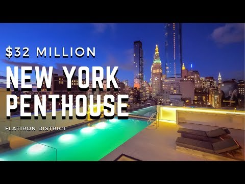 Inside a $32 MILLION New York City Penthouse with Rooftop Pool