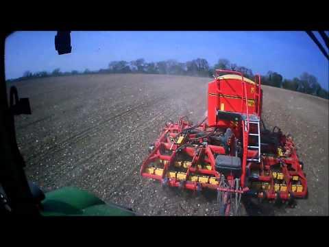 Drilling spring barley huge fan of JWB farm services