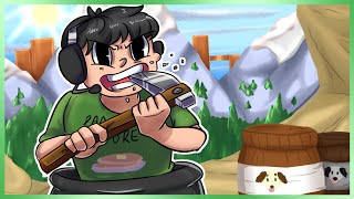 Getting Over It Funny Moments - A VERY ANGRY NOGLA! (Nogla Rage)