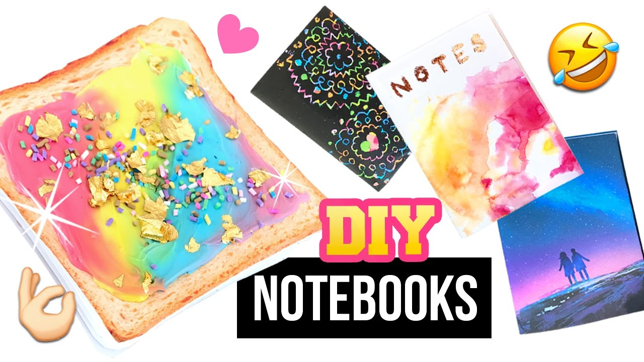 Diy Unicorn Book Cover : Diy notebooks inspired by instagram unicorn toast