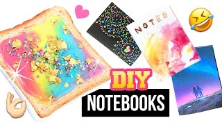 DIY Notebooks Inspired By INSTAGRAM!! Unicorn Toast, Galaxy, Rose Gold and MORE! thumbnail