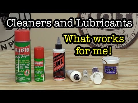 Cleaners And Lubricants | What Works For Me