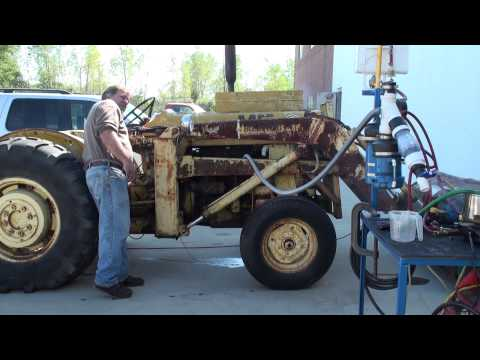 Diesel Vapor Carburetor First Rough Run 10-4-2011