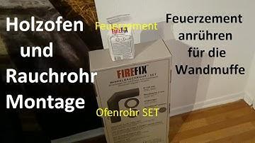 Kamin Ofen Rohr an Schornstein (Esse) anschließen einfach #Kamin #Ofen #Rauch