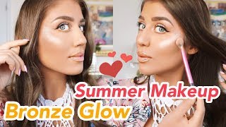 Bronze Glow Summer Makeup Tutorial | Get Ready With Me
