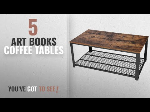 Top 10 Art Books Coffee Tables [2018]: SONGMICS Antique Coffee Table Vintage Cocktail Table with