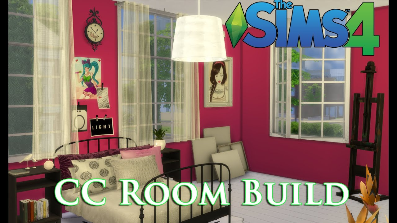 The Sims 4 Cc House Build Episode 4 Teen Bedroom