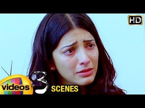 Shruti Haasan Cries for Dhanush | 3 Telugu Movie Scenes | Dhanush | Sivakarthikeyan | Anirudh