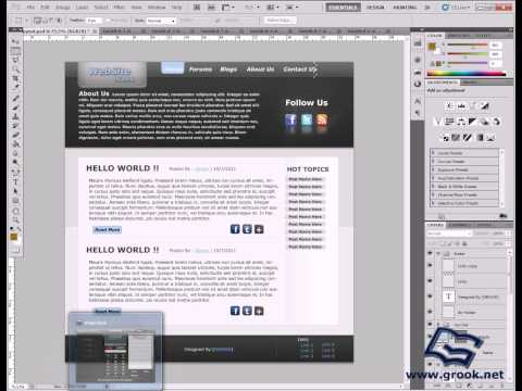 Website layout coding tutorial from PSD into XHTML and CSS