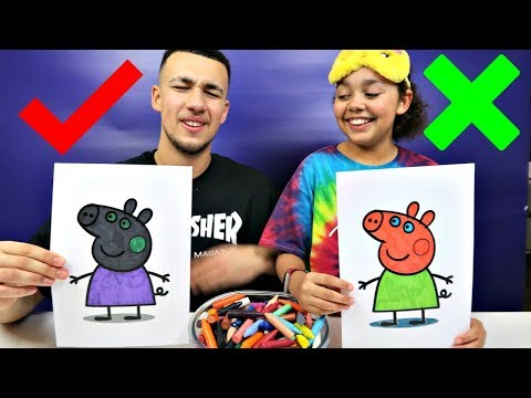 3 MARKER CHALLENGE With Peppa Pig   Toys AndMe