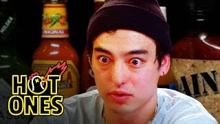 Joji Sets His Face on Fire While Eating Spicy Wings | Hot Ones by : First We Feast