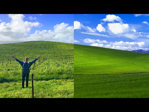 i found the windows XP background... And it was awesome ...
