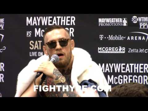 "Thumbnail: CONOR MCGREGOR WARNS MAYWEATHER'S ""JUICE HEAD"" SECURITY: ""SOMETHING WILL HAVE TO HAPPEN...CAREFUL"""